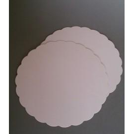 Rondelles 25 cm blanc