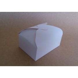 "Boîte carton blanc verni ""Papillon"" 10 cm x 15 cm"