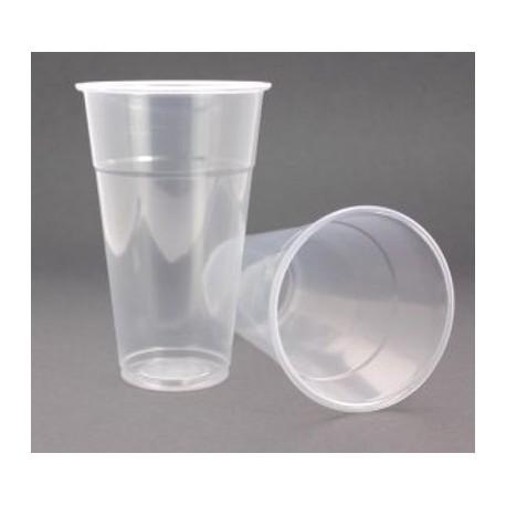 Gobelet 300 cc en plastique transparent