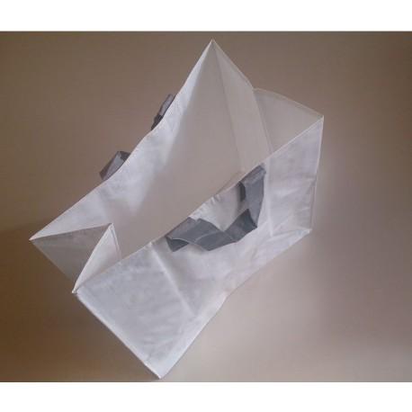SACS PP tissé blanc 40 x 20 x 40 cm