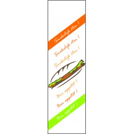 Certificat alim. Sandwich, Snack 1/2 baguette, BLANC (Art. Ref: 121,122, 126)
