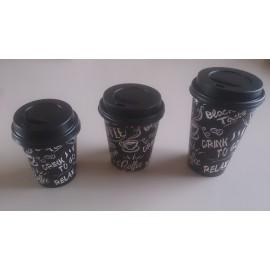 Couvercles plastique /Gobelets café 300 cc